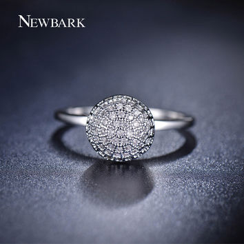 NEWBARK Vintage Cute Ball Rings For Women Small Korean White Gold Plated Minimalist Engagement Ring Simple Jewellery
