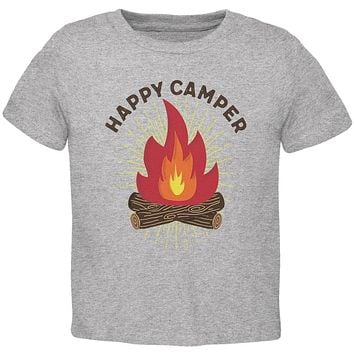 Hiking Happy Camper Campfire Toddler T Shirt