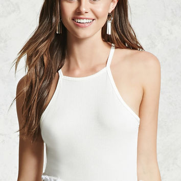 Ribbed Stretch-Knit Cami