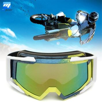 ac NOOW2 Dustproof Eye Protect Helmet Goggle Motocross Motorcycle Off-Road ATV Quad SUV Blue + Yellow