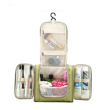 Waterproof Hanging Cosmetic Bags High Capacity Make Up Cases Pouch Toiletry Storage Organizer Bag Women's Men Travel Accessories