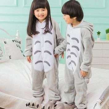 Boy Girl Kigurumi Anime Totoro Cosplay Fancy Soft Animal Costume Overall Child Kid Baby Funny Carnival Jumpsuit Onesuit