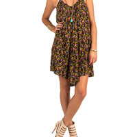 Lush Clothing - Rosey Vine Babydoll Dress - Medium