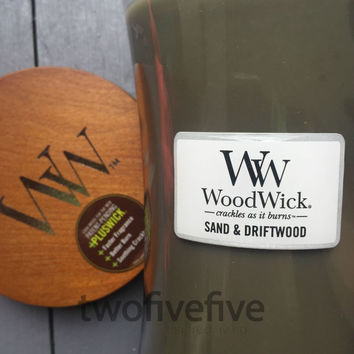 Sand & Driftwood Large Woodwick Candle