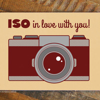 ISO in Love With You! – Funny Photographer Valentines Day Card