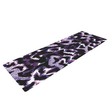 "Ebi Emporium ""Wild at Heart - Purple"" Lavender Yoga Mat"
