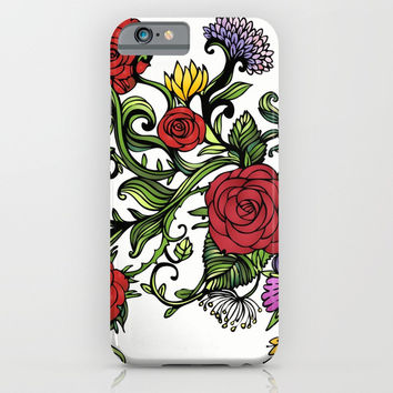 flowers iPhone & iPod Case by MIKART