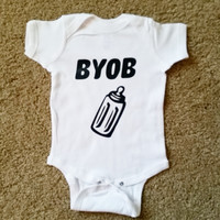 BYOB Onesuit - Bring Your Own Bottle Onesuit - Boy Onesuit - Childrens Clothing  - Ruffles with Love - Baby Clothing - RWL Kids