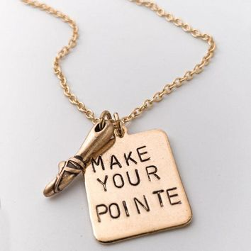 Make Your Pointe Necklace
