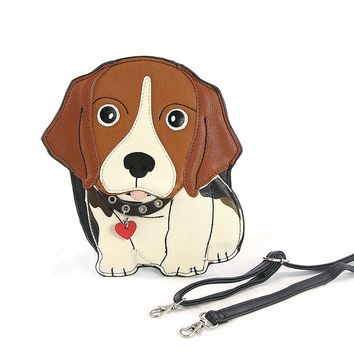 Beagle Crossbody Purse Handbag