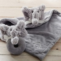 Elephant Plush Thumbie & Rattle | Pottery Barn Kids