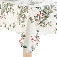 Food Network Frosted Juniper Tablecloth - 60'' x 102'' Oblong