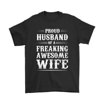 SPBEST Proud Husband Of A Freaking Awesome Wife Shirt