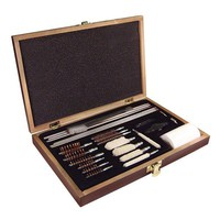 PS Products Deluxe Gun Cleaning Kit 27 Piece with Wood Case
