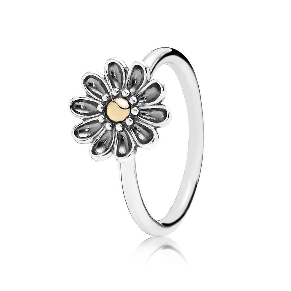 Pandora Oopsie Daisy Two Tone Flower Ring From Reeds Jewelers