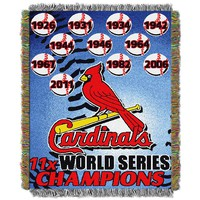 St. Louis Cardinals Commemorative Throw by Northwest (Crd Team)
