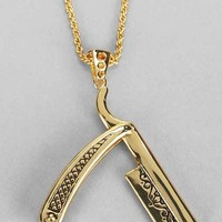 Han Cholo Razor Necklace- Gold One