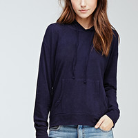 Hooded Cotton-Blend Pullover