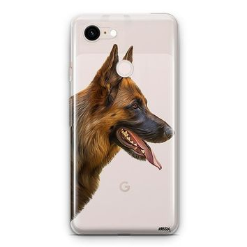 German Shepherd - Google Pixel 3 Clear Case