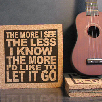 RED HOT CHiLi PEPPERS - Snow (Hey Oh) Lyrics - The More I See The Less I Know The More I'd Like To Let It Go - Office Decor Kitchen Trivet