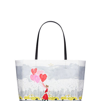 Kate Spade Secret Admirer City Hearts Hallie Multi ONE
