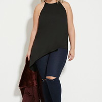Plus Size Asymmetrical-Cut Top | Forever 21 PLUS - 2000183138
