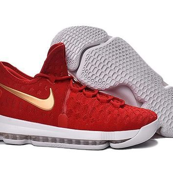 2016 Nike KD 9 Red/White Gold Men¡¯s Basketball Shoes