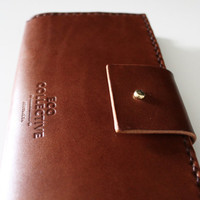 Leather wallet womens coin purse handmade in Australia