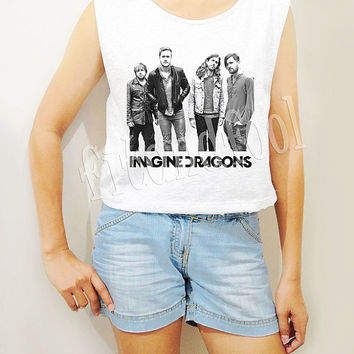 Imagine Dragons Shirts American Alternative Rock Shirts Women Crop Top Crop TShirts Women Tank Top Women Tunic Top Women Shirts - Size S M L