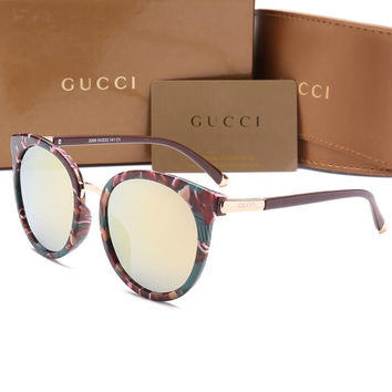 GUCCI Personality Fashion Popular Sun Shades Eyeglasses Glasses Sunglasses H-YJ-LHSTCYJC