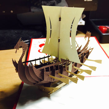 Viking Ship Card