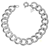 Silver-Tone Curb Chain Necklace | GUESS.com