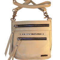 Tasca Leather Purse - Bone with Nickel