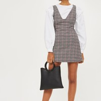 PETITE Checked A-Line Pinafore Dress | Topshop