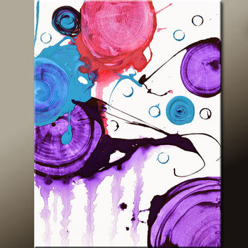 Original Abstract Canvas Art Painting 18x24 Contemporary Modern Wall Art by Destiny Womack - dWo - Collide