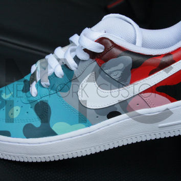 Bape Multi-Color Camo Nike Air Force 1 Low Men Women   Kids 0cd18fb24