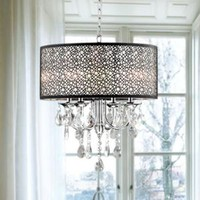 Walmart: Indoor 4-light Chrome/ Crystal/ Metal Bubble Shade Chandelier