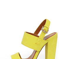 Fay 1 Lemon Yellow High Heel Sandals