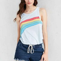 Truly Madly Deeply Rainbow Stripe Swing Tank