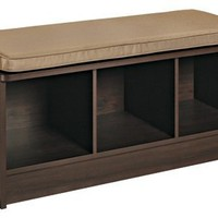 ClosetMaid 1570 Cubeicals 3-Cube Storage Bench, Espresso
