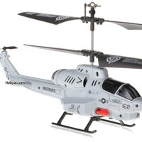 U809 Cobra Missile Launching 3.5 channel RC Helicopter Gyroscope RTF w/ Missiles