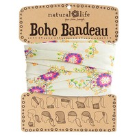 Cream  with  Pink  Flower  Boho  Bandeau  From  Natural  Life
