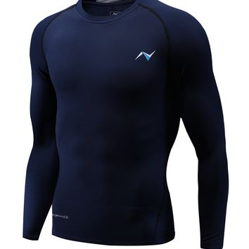 Men's Thermal SubZero Fleece Compression Baselayer Long Sleeve T Shirts