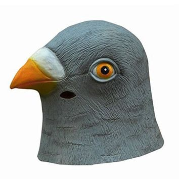 Pigeon Head party Mask Creepy Halloween Costume Theater Prop Novelty Latex rubber case for laptop