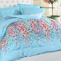 Cotton four pieces bedding suite -  BD0021 from House Beauty