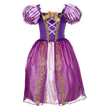 New Baby Girls Cinderella Dresses Children Snow White Princess Dresses Rapunzel Aurora Kids Party Halloween Costume Clothes