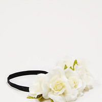 Ivory Oversized Rose Crown