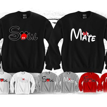"Soul Mate ""Cute Couples Matching Crewnecks"""