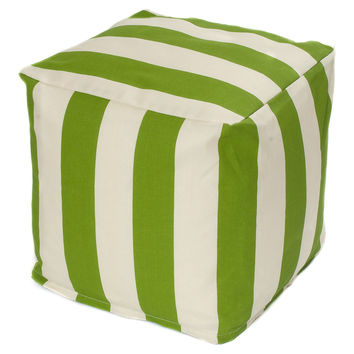 Cabana Outdoor Cube, Green, Outdoor Poufs