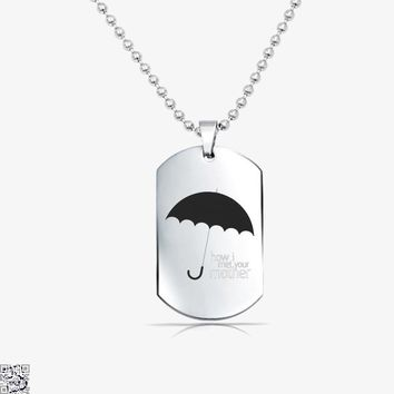 Yellow Umbrella, How I Met Your Mother Tag Necklace
